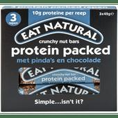 Eat Natural Protein packed met pinda's en chocolade 3 stuks