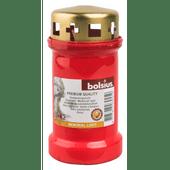 Bolsius Herdenkingslicht met deksel rood