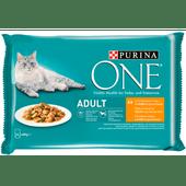 Purina One Kattenvoer adult kip-sperziebonen in saus