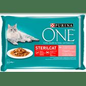 Purina One Kattenvoer sterilcat zalm-wortel