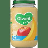 Olvarit Fruithapje 8+ maanden appel-banaan-peer