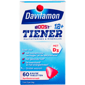 Davitamon Multi boost kauwtabletten multi vitaminen 12 jaar aardbei