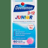 Davitamon Junior kauwvitamines vitaminen framboos 3-12 jaar