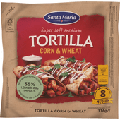Santa Maria Tortilla corn-wheat 8 stuks