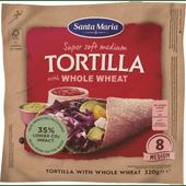 Santa Maria Tortilla whole wheat 8 stuks
