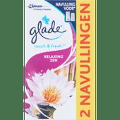 Glade Luchtverfrisser touch & fresh navulling duo relaxing zen