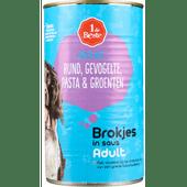 1 de Beste Hondenvoer rund-gevogelte-pasta in saus