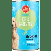 1 de Beste Hondenvoer kip-groenten in saus
