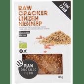 Raworganic Crackers linzen-hennepzaad