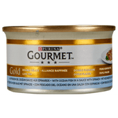 Gourmet Gold luxe mix met zeevis in spinaziesaus