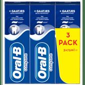 Oral-B Tandpasta complete + gaatjes bescherming 3 stuks