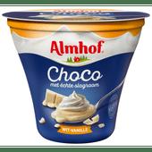 Almhof Choco met slagroom wit vanille