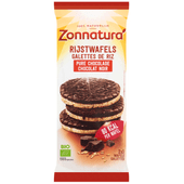 Zonnatura Biologische rijstwafels pure chocolade