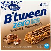 Hero B'tween zero chocolade hazelnoot 6 stuks