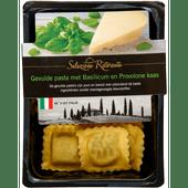 Selezione ristorante Raviolini basilicum-provolone kaas