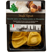 Selezione ristorante Mezzellune bospaddestoelen-mozzarella