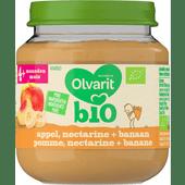Olvarit Bio 4+ maanden appel-nectarine-banaan