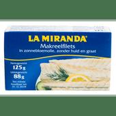 La Miranda Makreelfilet in zonnebloemolie