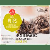 1 de Beste Kattenvoer maaltijdzakjes senior in gelei 12 stuks