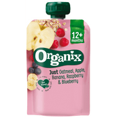 Organix Just oatmeal-apple banana, raspberrry bleuberry 12+ maanden