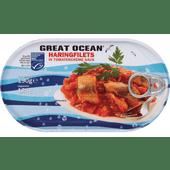 Great Ocean Haringfilets in tomatencreme saus