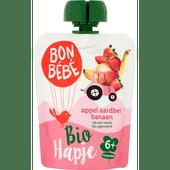 Bonbébé Biohapje appel-aardbei 6+ maanden