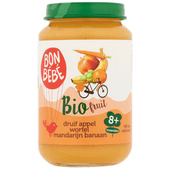 Bonbébé Fruithapje 8+ maanden druif-appel-wortel-mandarijn