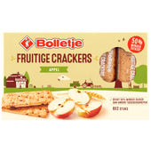 Bolletje Fruitige crackers appel 8 x 2 stuks