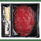 Pure Ambacht Carpaccio met pijnboompitten, kaas en olijfolie