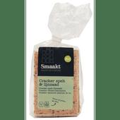 Smaakt Biologische crackers spelt-lijnzaad