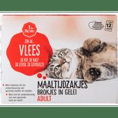 1 de Beste Kattenvoer maaltijdzakjes vlees in gelei 12 stuks