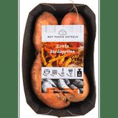 Met passie geteeld Zoete aardappelen verpakt