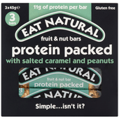 Eat Natural Protein packed met salted caramel 3 stuks