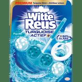 Witte Reus Toiletblok Turquoise actief pacific