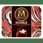 Ola Magnum double choc & strawberry 4 stuks