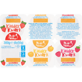 Zuivelmeester Kinderkwark aardbei-abrikoos-framboos 6 st
