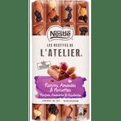 Nestlé Chocoladereep l atelier melk-rozijn-hazelnoot