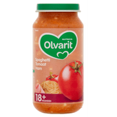 Olvarit Babyvoeding 18+ maanden spaghetti-tomaat-ham