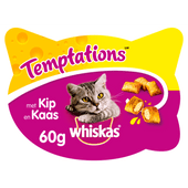 Whiskas Temptations kip & kaas
