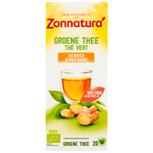 Zonnatura Biologische kruidenthee groene thee gember