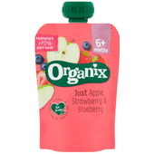 Organix Knijpzakje strawberry-blueberry +6 mnd