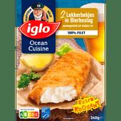 Iglo Ocean cuisine lekkerbekje bierbeslag, 2 stuks