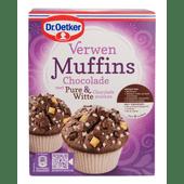 Dr. Oetker Muffins mix chocolade met pure en witte chocolade stukken