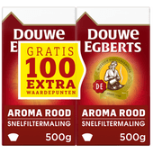 Douwe Egberts Aroma Rood  filterkoffie dubbelpak