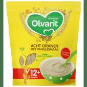 Olvarit Ontbijpap 12+ maanden acht granen vanille