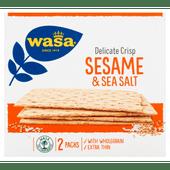Wasa Delicate crisp sesame & sea salt