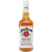 Jim Beam Bourbon whiskey white