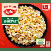 Iglo Ping en klaar pasta carbonara