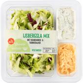 1 de Beste Salade ijsbergsla mix met komkommer & farmersalade