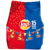 Lay's Mixpack naturel & paprika 15 stuks